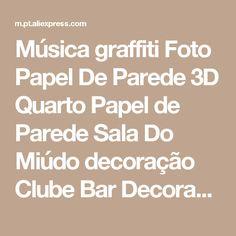 Música graffiti Foto Papel De Parede 3D Quarto Papel de Parede Sala Do Miúdo decoração Clube Bar Decoração Do Casamento Design de Moda Pintura Mural Da Parede Pop-arte Loja Online   aliexpress móvel