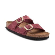 Fashion and function come together to bring you the Arizona Soft Footbed Sandal from Birkenstock. The classic and comfortable Arizona Soft Footbed Sandal flaunts iconic, double strap uppers, crafted with premium suede leather. The Soft Footbed design provides lightweight cushion with an extra layer of soft foam inserted between the cork midsole and suede liner for ultimate support and comfort.