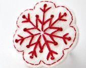 embroidered felt flower brooch