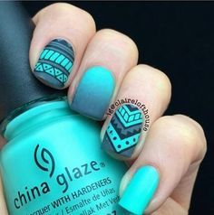 In search for some nail designs and ideas for your nails? Here's our list of 18 must-try coffin acrylic nails for trendy women. Cute Acrylic Nails, Acrylic Nail Designs, Nail Art Designs, Nails Design, Aztec Nail Designs, Tribal Nails, Nail Swag, Super Nails, Nagel Gel