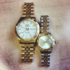 The perfect his and her watches! #Rotary