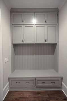 We can already picture bookbags and cute little pairs of rainboots taking up residence in this mudroom. Furniture, Mudroom, Renovation Design, Renovation Project, Storage Bench, Custom Homes, Design Build Firm, Home Decor, Construction Renovation