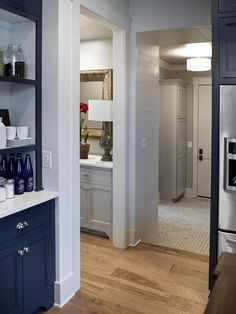 Built in cabinet beside basement door  Kitchen Pictures From HGTV Smart Home 2014 from HGTV