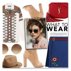 """""""Friday"""" by makeupgoddess ❤ liked on Polyvore featuring Steve Madden, Etro, Yves Saint Laurent, Gucci, Victoria Beckham and rag & bone"""