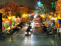 downtown Burbank (and my family there!)