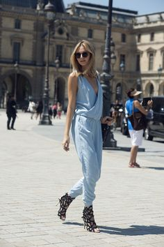 Zara jumpsuit (similar here),Sophia Webster sandals,Proenza Schouler bag, House of Holland sunglasses,Jennifer Zeuner necklace,Rebecca Minkoff rings(image:tuulavintage)