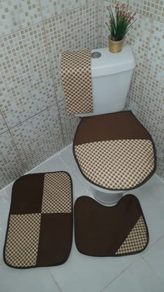Bathroom Crafts, Bathroom Sets, Bathroom Storage, Sewing For Beginners, Toilet, Patches, Decoration, Quilts, Crochet