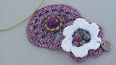 Statement Jewelry  Crochet Necklace  Gold Crochet by CANDYlook4u