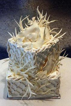 Winter White Wedding Cakes | Weddingish - White Branches Wedding Cake