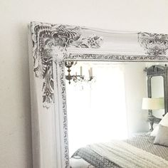 Shabby Chic Mirror Large Bathroom Vanity Baroque Wall Ornate Custom Colors