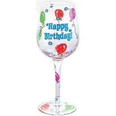 "Westland Giftware 9-Inch Happy Birthday! Wine Glass, 15-Ounce by Westland Giftware. $19.95. Clear glass with painted detail. Hand Wash Only. Wine glass. Material: glass. Westland Giftware 9-Inch Happy Birthday! Wine Glass 15-Ounce This glass reads ""Happy Birthday!"" and show colored balloons throughout. Holds 15-Ounce and measures 9-Inch tall. Brand new in its original box."