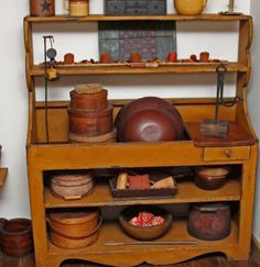 for your collections of old bowls, wood and pottery