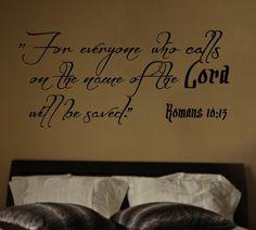 Romans 10:13 Bible Verse Wall Decal