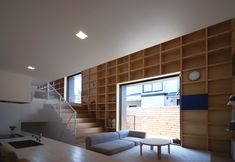 bookcase wall in SOY source architects: dr.s house