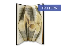 Folded Book Art Pattern - Musical Notes - 156 Folds - Including manual - Bookfolding Pattern - Folded Book Pattern - Book Folding pattern