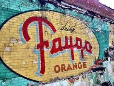 """Faygo remembers."" Vintage hand-painted building advertisement. PureDetroit.com"