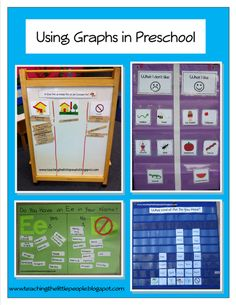 Using Graphs in Preschool Teaching The Little People - with printables