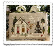 Hometown Holiday ~ Main Street Station from The Strawberry Stitcher
