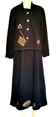 EUC Set of 2 Blue Cactus Dress Jacket Black Sleeveless Long Suit 100% Cotton M #Bluecactus #Maxi #SummerBeach