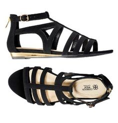 Ciao, Bella! Inspired by the ITALIAN FLAIR FOR THE DRAMATIC, the SPRING SIGNATURE COLLECTION. Heres the Leather-like black strappy open-toe sandal. It has metallic gold demi wedge, adjustable side buckle and back zipper for easy on/off. Padded heel for comfort. #sandals #mothersdaygift #giftsforher #fashion #signaturecollection #cushionwalk