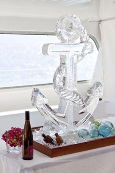 Escultura de gelo, ancora.