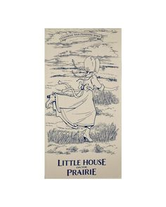 """Little House On The Prairie Running Girl 23.5"""" Panel Blue from @fabricdotcom  Owned and licensed by Friendly Family Productions and under license to Andover Fabrics, get inspired by your favorite childhood classic, Little House on the Prairie by Laura Ingalls Wilder with these classic and reproduction prints. Perfect for quilting, apparel, and home decor accents. Panel measures 23.5"""" x 44"""". Colors include muslin and blue."""