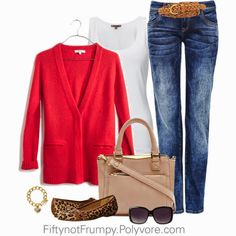 """Fifty, not Frumpy: Again, her choices of sweaters remind me of """"gramma"""" clothes. I am not wearing that crap"""