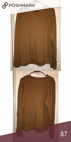 Mustard Brown Gap Thermal Mustard Brown Gap Thermal 🍁 Super Cozy, just has two minor spots on the front of the shirt, they're honestly not even noticeable at all ✨Open To Offers✨ GAP Tops Tees - Long Sleeve