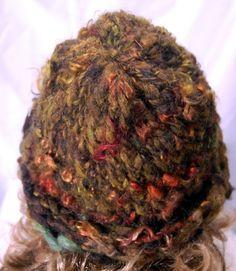 Beanie Hat  Rolled Brim Beanie Hat  Hand Knit by LaTeaDaDesigns, $49.95