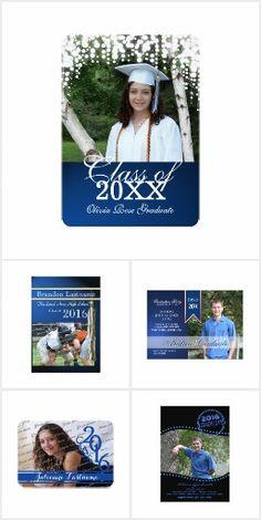 Blue Graduation Invitations