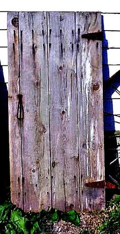 Barn Door Reclaimed Wood Primitive Rustic Farm. Use as tabletop or coffeetable with metal legs/base or reclaimed table legs painted in glossy bright color