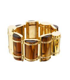 Faraone Mennella: gold, whisky citrine, yellow citrine and diamond bracelet