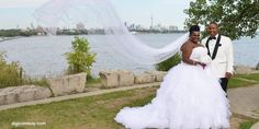 black queer trans couple on wedding day