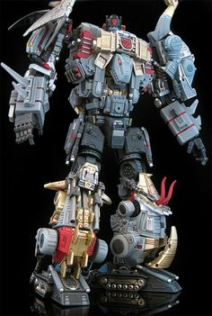 """In one universe, the Dinobots actually combined (like they always should have been able to), and I believe he was called """"Beast?"""" (I love it, but Sludge's neck should snap back and be hidden.)"""