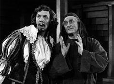 The Alchemist 1969 William Hutt as Sir Epicure Mammon and Powys Thomas as Subtle Director: Jean Gascon Designer: James Hart Stearns Photographer: Douglas Spillane