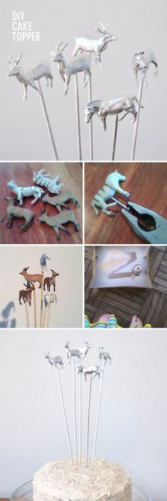 DIY cake toppers so you can decorate with your little one's favorite animal