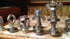 How to Make a MacGyver-Style Chess Set Using Just Nuts & Bolts « MacGyverisms