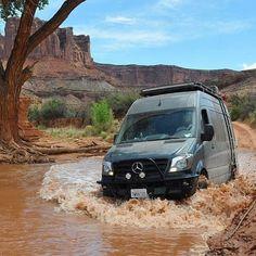 Off-road Sprinter in the wilds of Utah, Texas! Stealth Camper Van, 4x4 Camper Van, 4x4 Van, Off Road Camper, Mercedes Sprinter Camper, Sprinter Van Conversion, Benz Sprinter, Camper Conversion, Ambulance