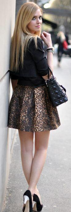 Leopard Skirt | Street Style