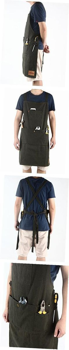 Aprons 20657: - Heavy Duty Waxed Canvas Work Apron With Pockets- Adjustable Up To Xxl For Men -> BUY IT NOW ONLY: $41.69 on eBay!
