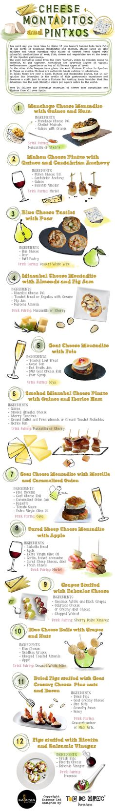Do you know our favorite #Cheese #Montaditos & #Pinchos? Here they are!