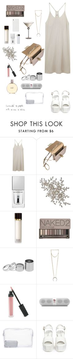 """Summer party. Dress"" by djulia-tarasova ❤ liked on Polyvore featuring Ian R.N., Jimmy Choo, Givenchy, Tom Ford, Urban Decay, Betty Jackson, 8 Other Reasons, Chanel, Beats by Dr. Dre and Topshop"