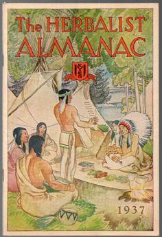 A fine copy of The Herbalist Almanac for 1937, Vintage Medical Ephemera, Herbs