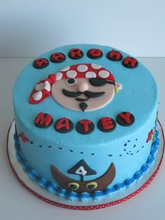 pirate cakes for kids birthday | Pirate birthday cake — Children's Cakes