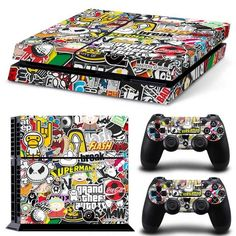 Skin Sticker Cover For PS4