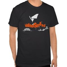 Black or any color windsurfing t-shirt. Windsurfing Extreme Rider t-shirt to be bought at zazzle.com #windsurfing #tshirt #windsurfingtshirt
