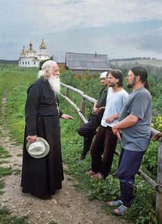 Charming faces of Russian Orthodoxy [Father Nikolai, an elder of the Ufa diocese, visits the cloister to answer workers' questions.] a wonderful slideshow!