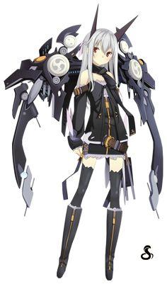 Render Cyborgs/Robots - Renders Fille Cyborg Robot Mecha