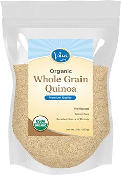 Viva Labs  The FINEST Organic Quinoa 100 Royal Bolivian Whole Grain 2 LB Bag * You can find more details by visiting the image link.