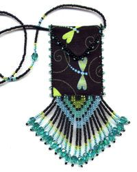 amulet bags   for beaded amulet bags that use a wide variety of beadweaving and